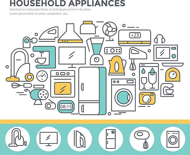 Household appliance shop concept illustration. vector art illustration