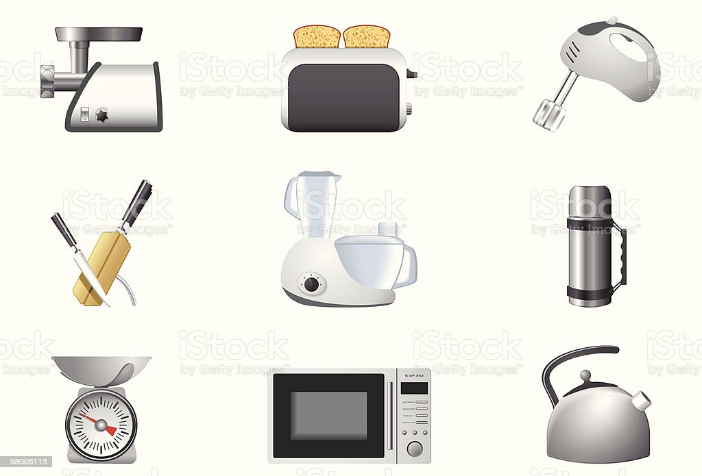 Household appliances | Kitchen royalty-free household appliances kitchen stock vector art & more images of appliance