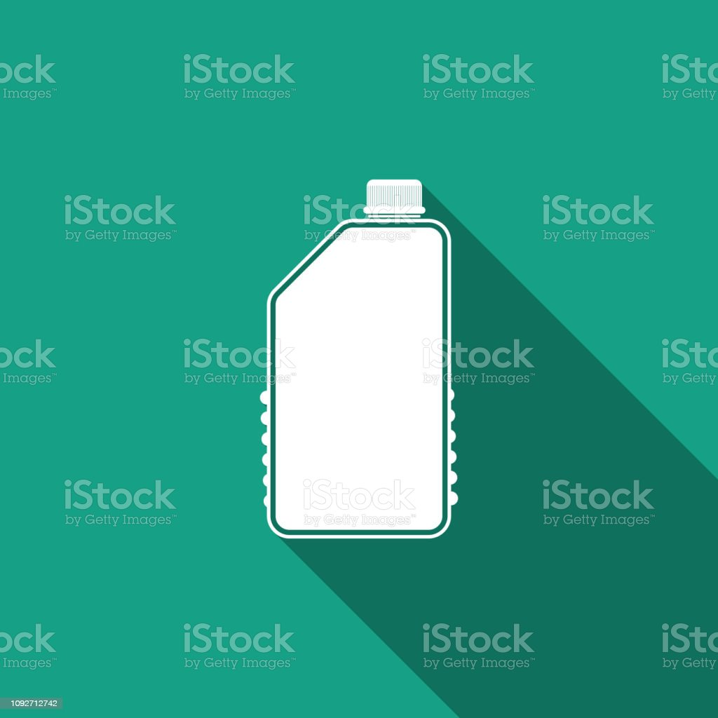 Household Chemicals Blank Plastic Bottle Icon Isolated With Long