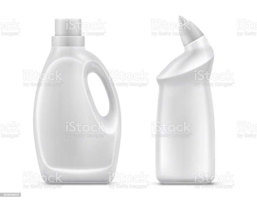 Química doméstica botellas vector aislado - ilustración de arte vectorial