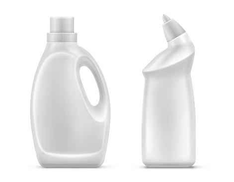 Household Chemistry Bottles Isolated Vector - Stockowe grafiki wektorowe i więcej obrazów Antyseptyk
