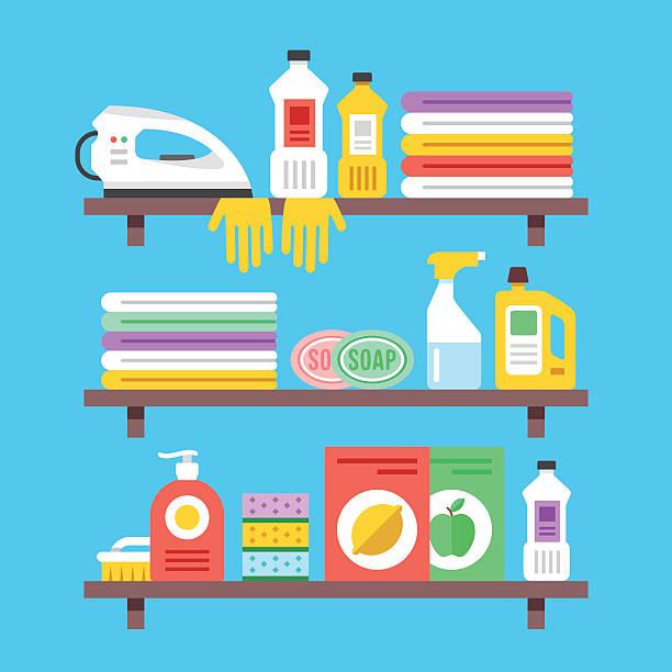Best Washing Dishes Illustrations Royalty Free Vector: Best Washing Dishes Cartoon Illustrations, Royalty-Free