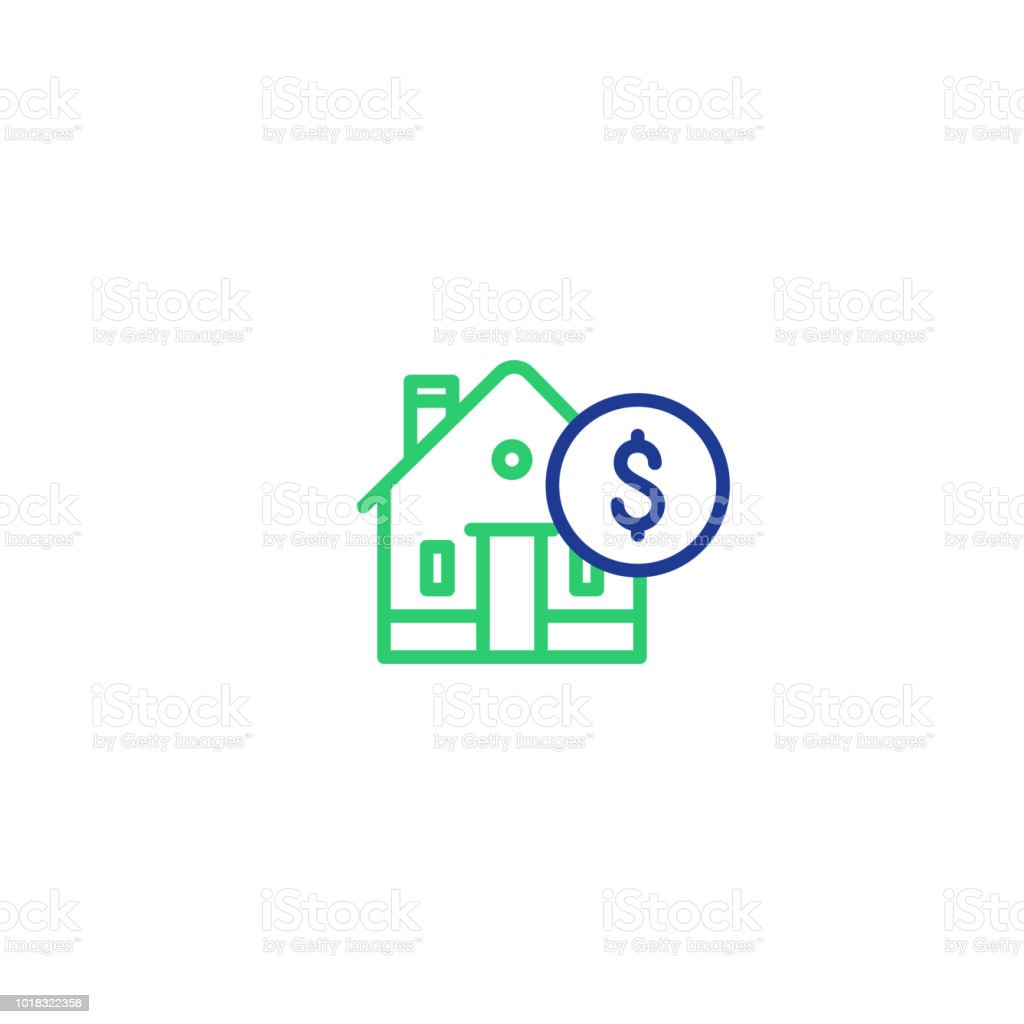household expenses mortgage payment house line icon invest