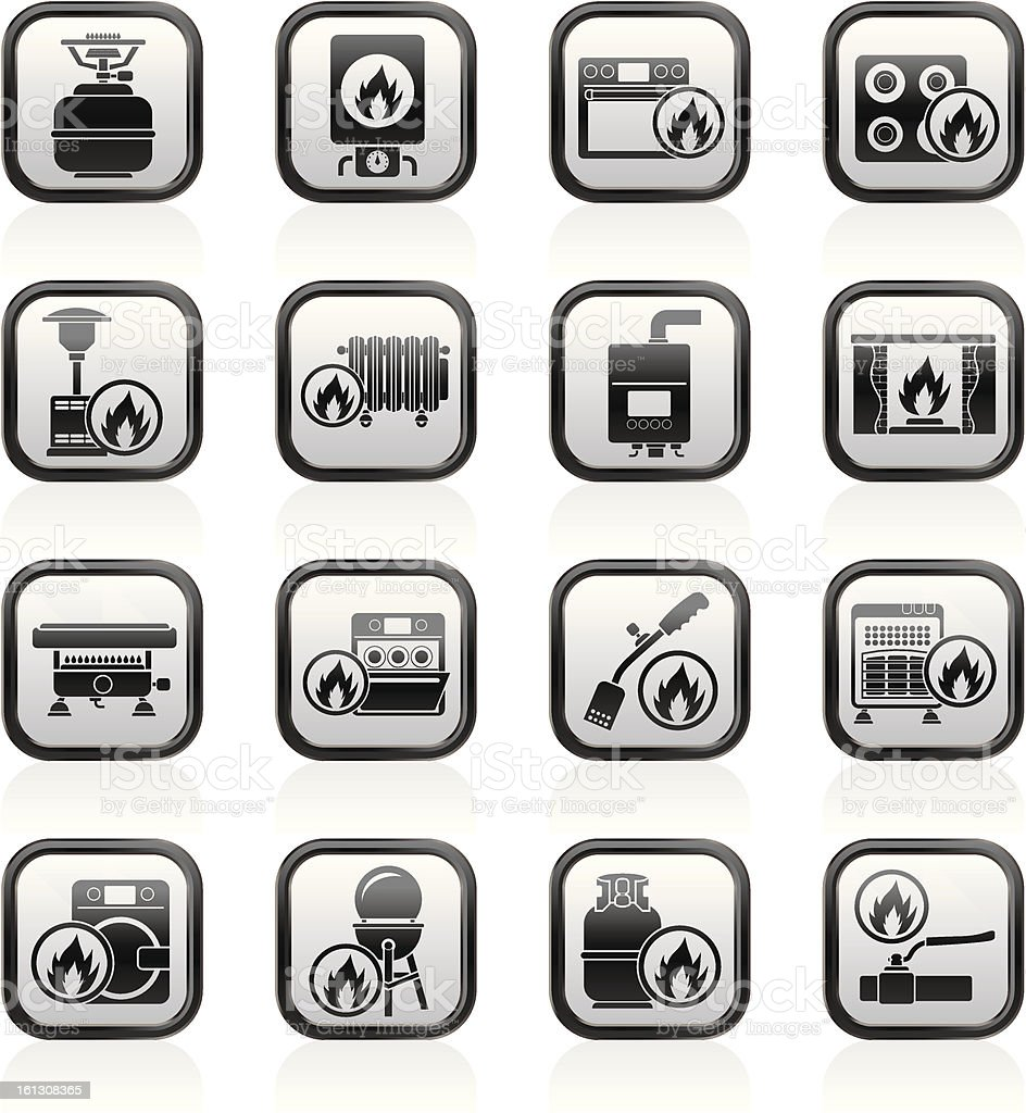 Household Gas Appliances icons royalty-free household gas appliances icons stock vector art & more images of appliance