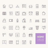Household Outline Icons for web and mobile apps