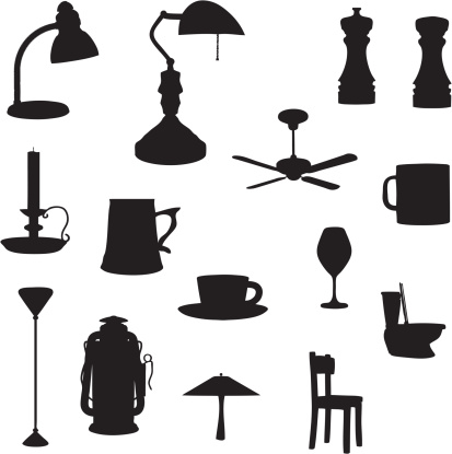 Household Silhouette Collection (vector+jpg)