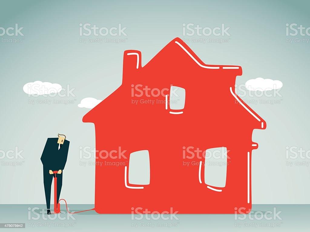 House-Illustration vector art illustration