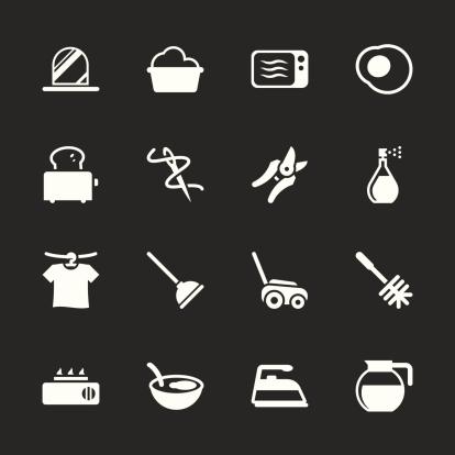 Housekeeping Icons - White Series | EPS10