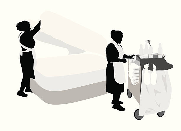 HouseKeeping Vector Silhouette Art Illustration