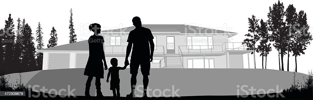 House'n Family royalty-free stock vector art