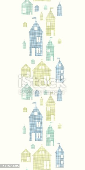 istock Houses blue green textile texture vertical seamless pattern background 511529685