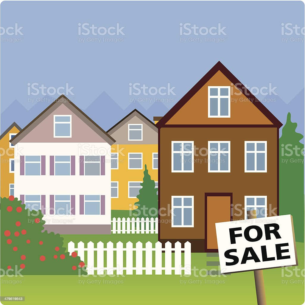 Houses for sale royalty-free houses for sale stock vector art & more images of business
