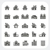 Houses icons set, Real estate, EPS10, Don't use transparency.