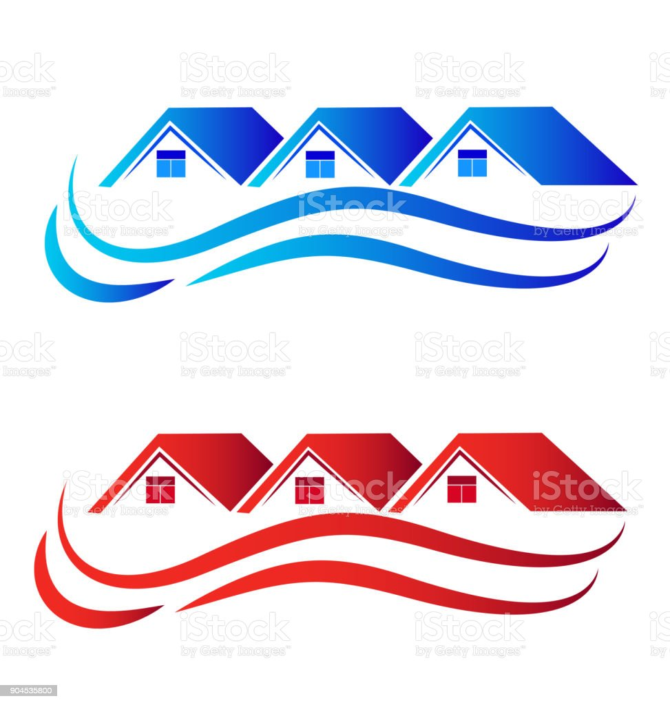 Houses id card identity set collection real estate image vector art illustration