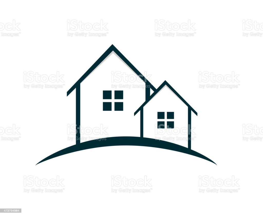 Houses logo vector illustration stock vector art more for Minimalist house logo
