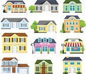 Vector illustration of  the houses set.
