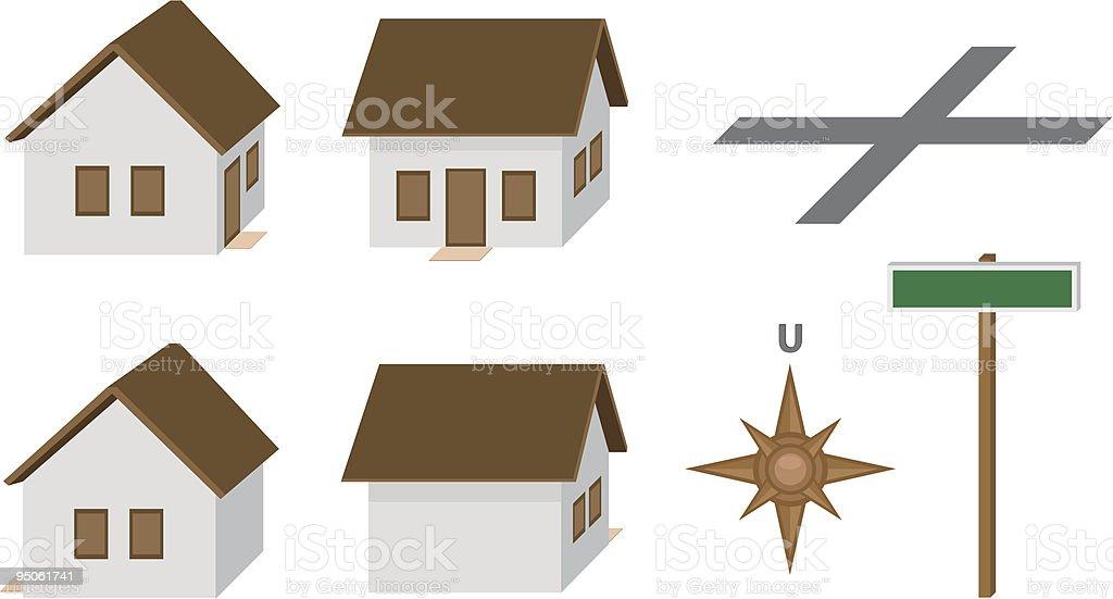 Häuser – Vektorgrafik