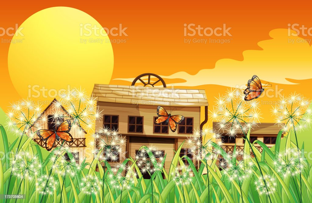 Houses with different designs royalty-free stock vector art