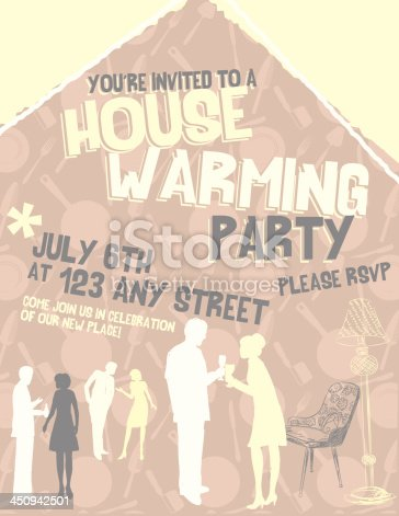 Housewarming invitation template stock vector art 450942501 istock stopboris Choice Image