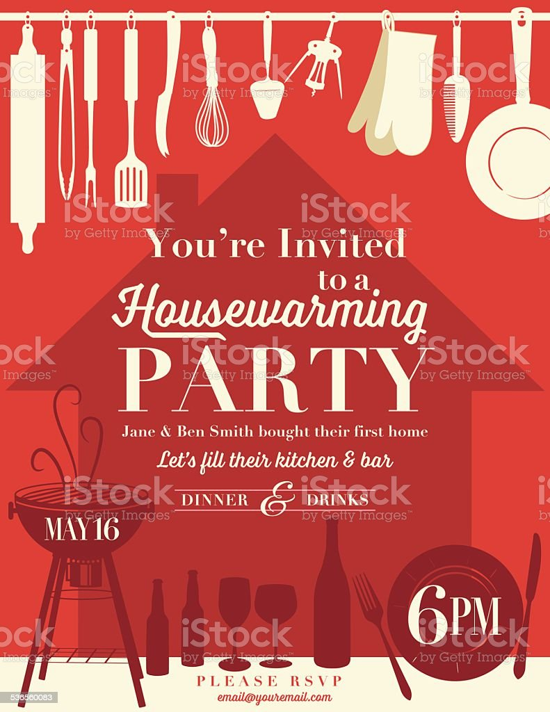 Housewarming Party Invitation Template Stock Vector Art & More ...