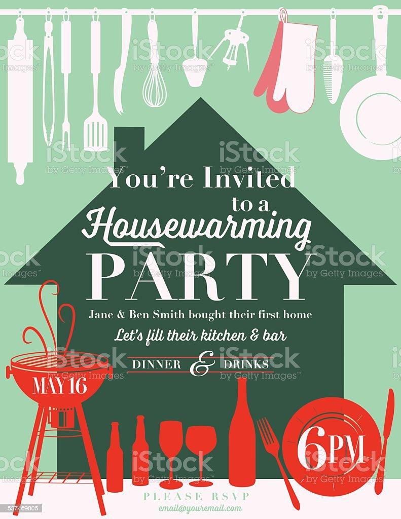 Housewarming party kitchen invitation stock vector art 537469805 housewarming party kitchen invitation royalty free stock vector art stopboris Choice Image