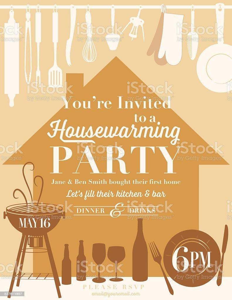 Housewarming party kitchen invitation stock vector art 537611997 housewarming party kitchen invitation royalty free stock vector art stopboris Choice Image