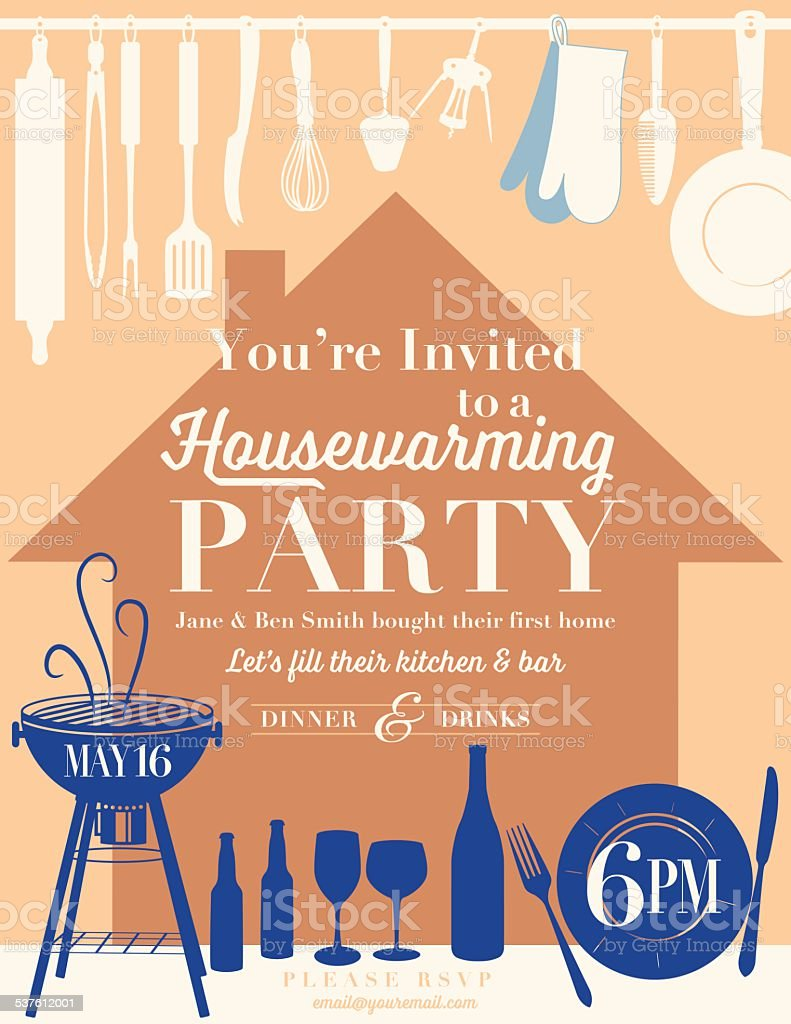 Housewarming party kitchen invitation stock vector art more images housewarming party kitchen invitation royalty free housewarming party kitchen invitation stock vector art amp stopboris Choice Image