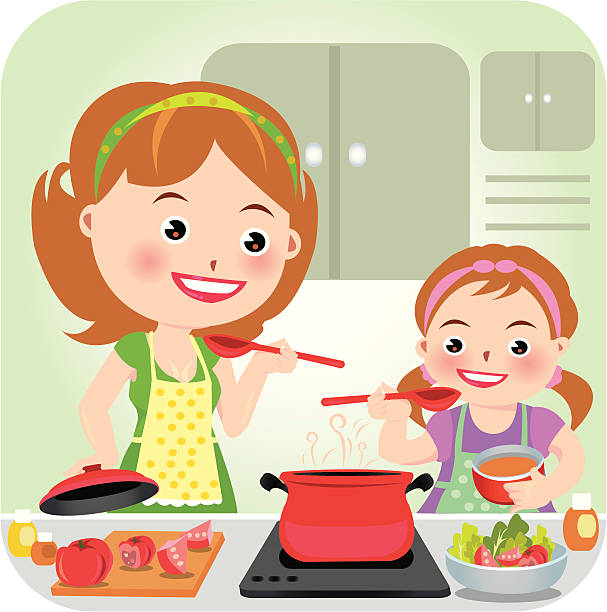 Royalty Free Mom Cooking Clip Art, Vector Images ...