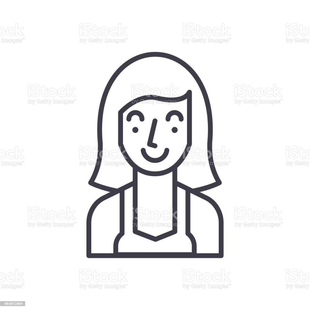Housewife black icon concept. Housewife flat  vector symbol, sign, illustration. royalty-free housewife black icon concept housewife flat vector symbol sign illustration stock vector art & more images of adult