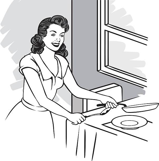 主婦料理教室 - 家庭料理点のイラスト素材/クリップアート素材/マンガ素材/アイコン素材