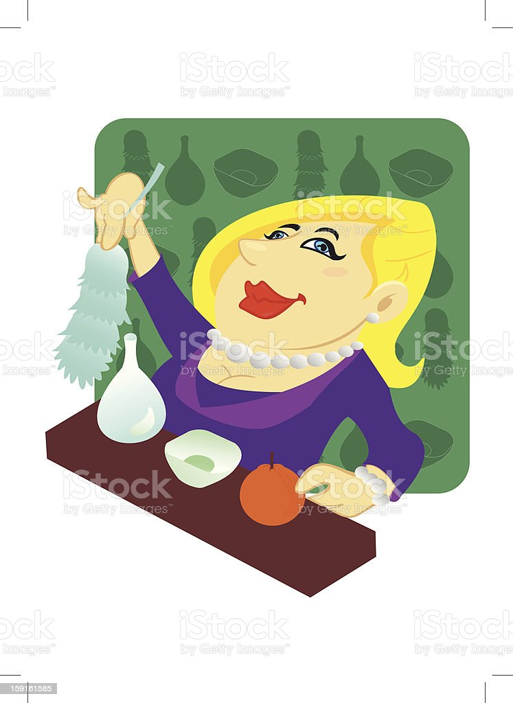 Housewife royalty-free stock vector art