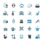 Housework and Cleaning vector icons