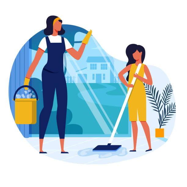 Housework, Household Chores Vector Illustration
