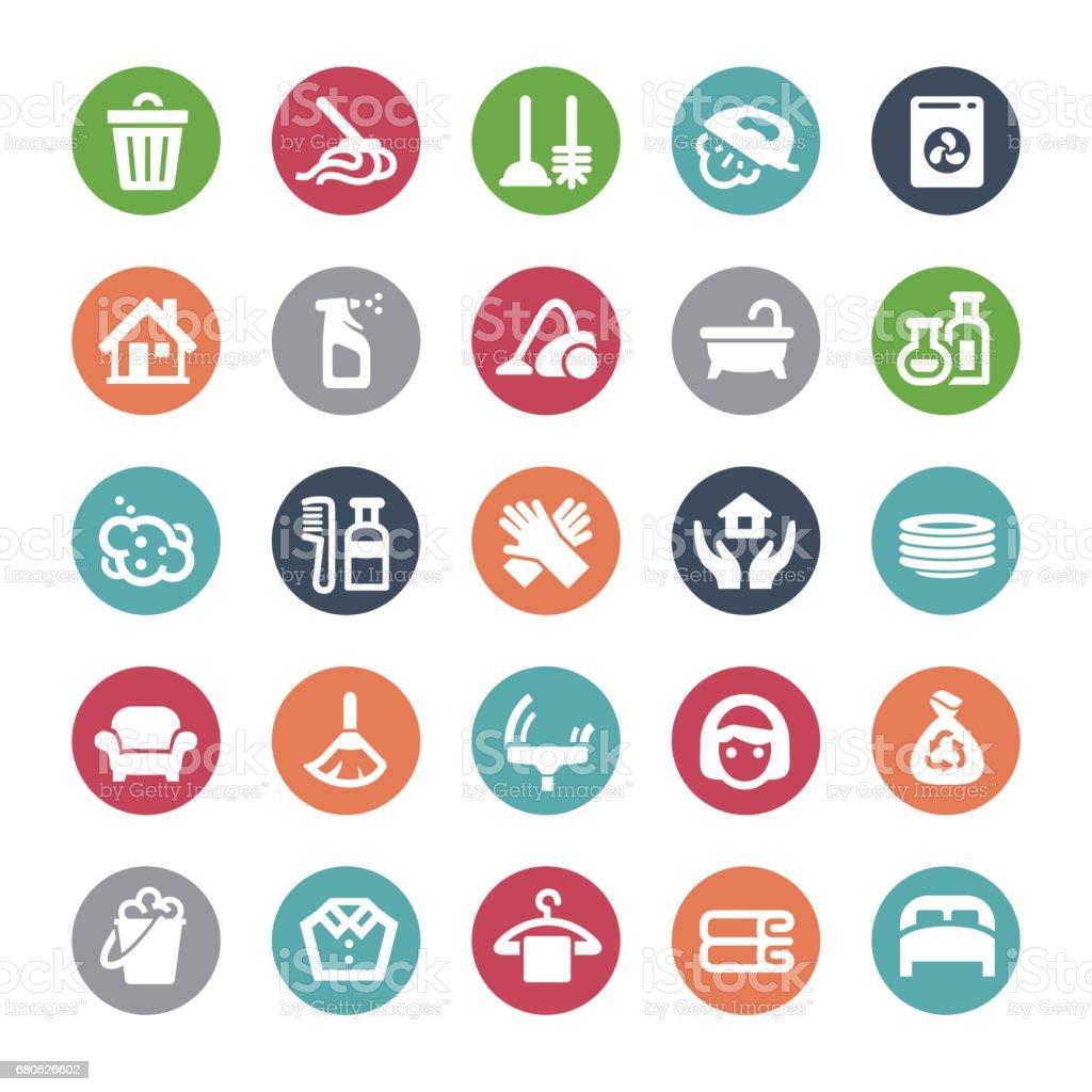 Hausarbeit Icons - Bijou-Serie – Vektorgrafik
