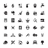 Housework Services vector symbols and icons