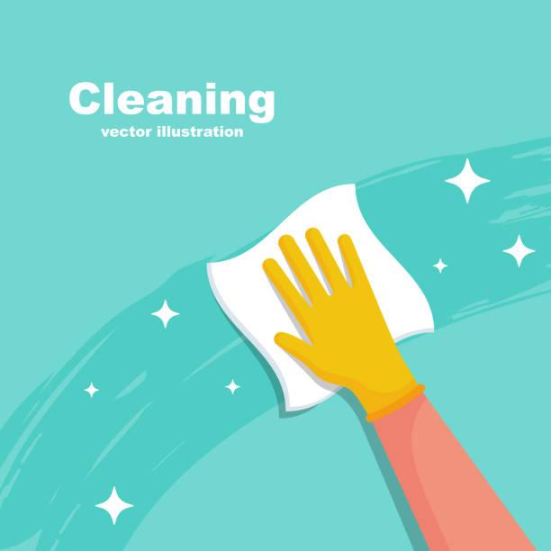 家庭傭工用餐巾載體擦拭表面 - 清新 幅插畫檔、美工圖案、卡通及圖標