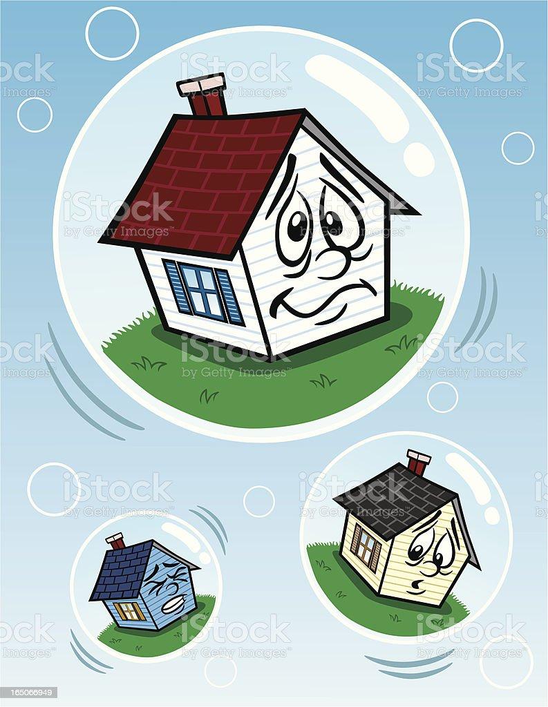 Housing Bubble royalty-free stock vector art