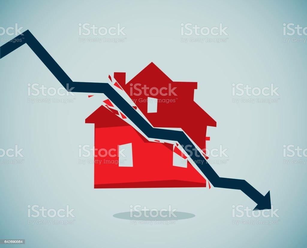 Housing Crisis vector art illustration