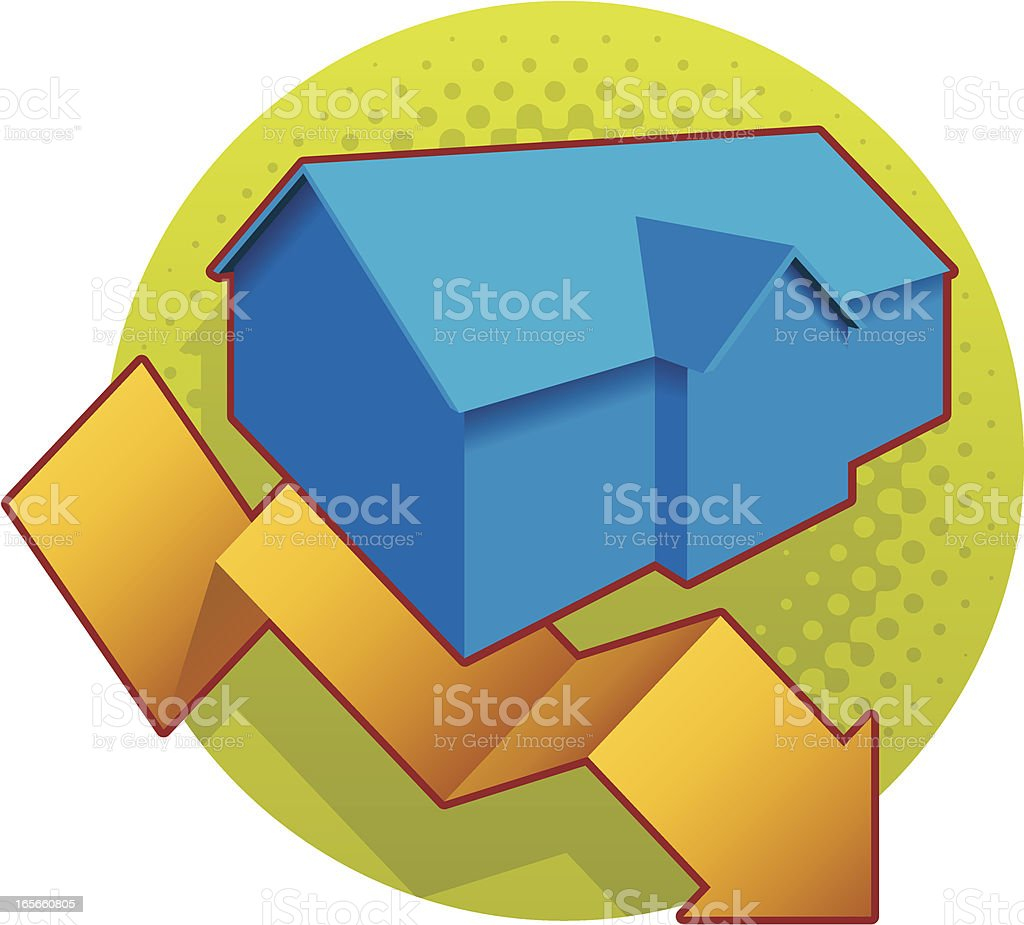 housing downturn royalty-free housing downturn stock vector art & more images of business