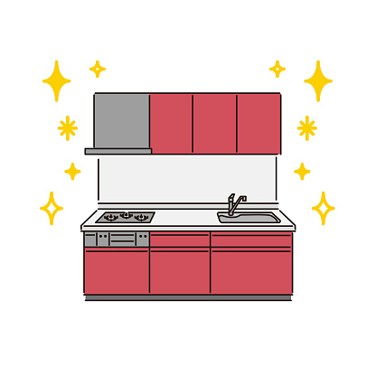 Housing equipment: System kitchen (built-in gas stove)