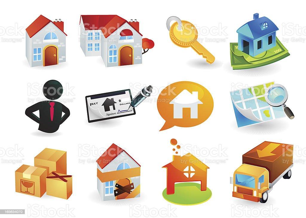 Housing Icon Set royalty-free stock vector art