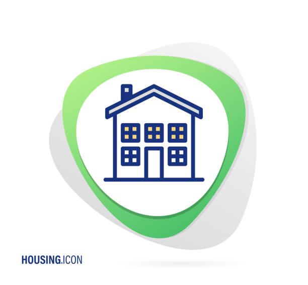 illustrations, cliparts, dessins animés et icônes de icône de logement - nouveau foyer