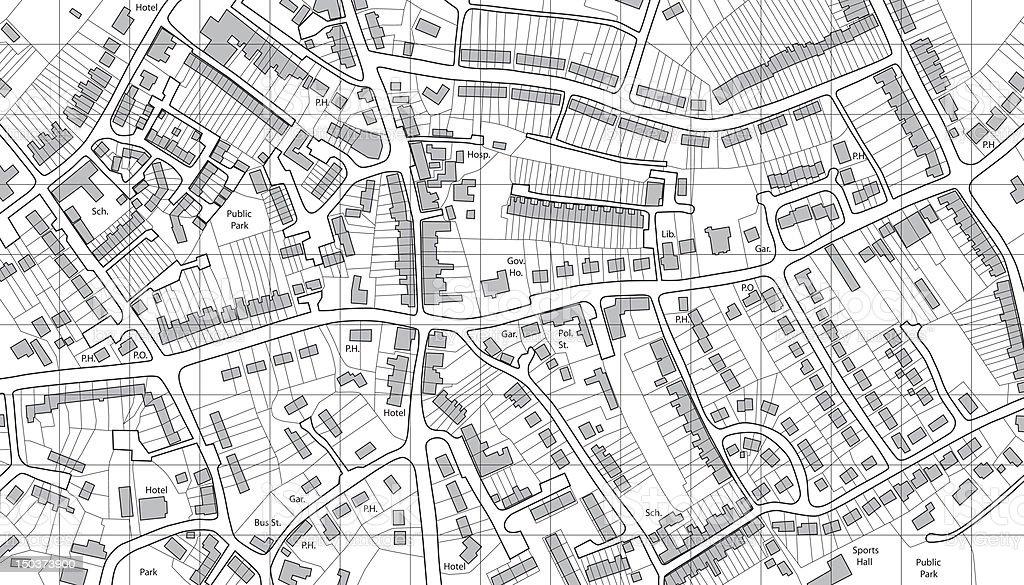 Housing map vector art illustration