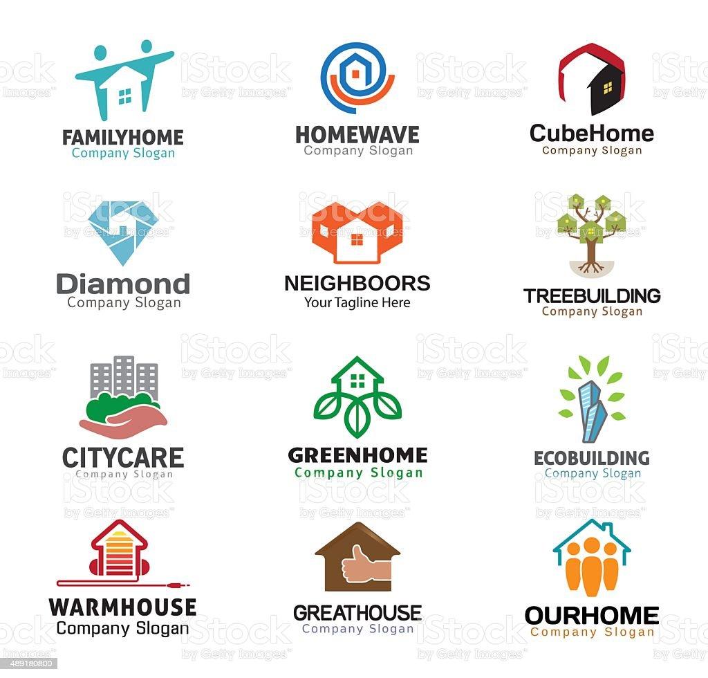 Housing Real Estate Design vector art illustration
