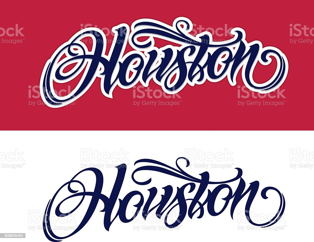Houston lettering in tattoo style stock vector art more for Texas tattoo license