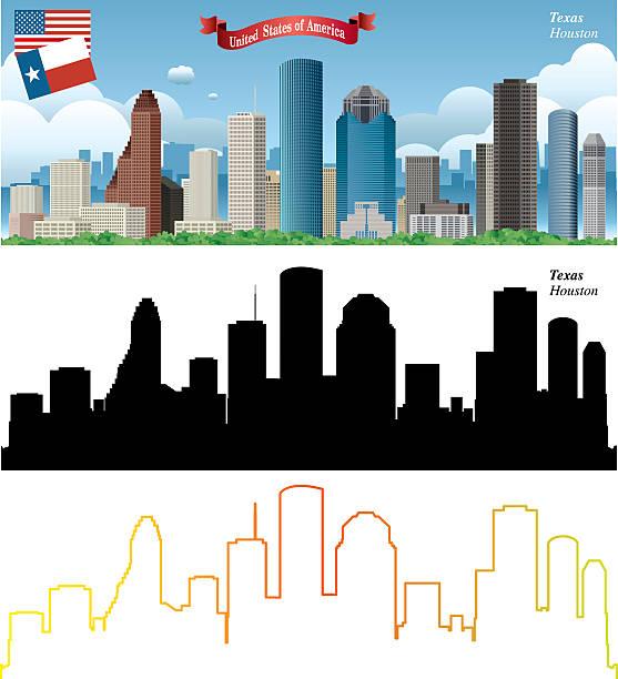Houston Clip Art : Royalty free houston skyline clip art vector images