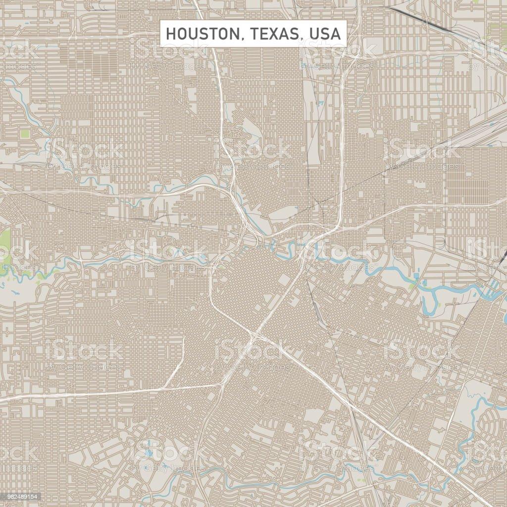 Houston Texas US City Street Map