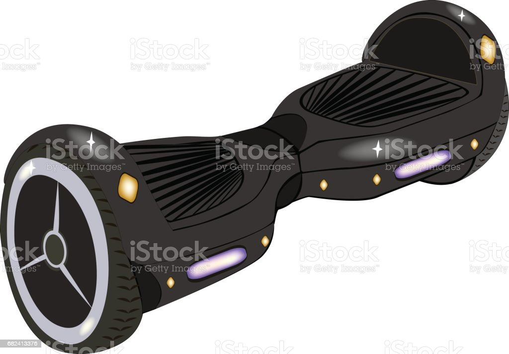 Hoverboard, isolated on white background.Vector illustration. royalty-free hoverboard isolated on white backgroundvector illustration stock vector art & more images of amphibious vehicle