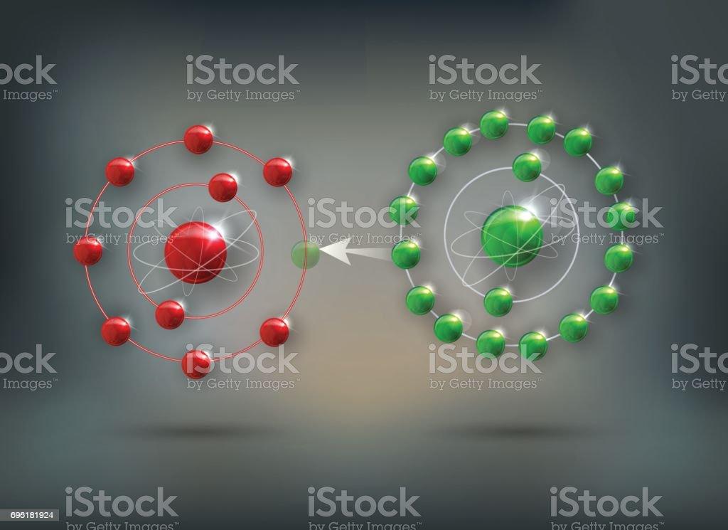 Cómo trabaja antioxidante contra los radicales libres - ilustración de arte vectorial