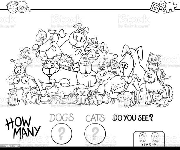 How many cats and dogs game color book vector id878592352?b=1&k=6&m=878592352&s=612x612&h=lfh7oisfbbheba8i7bzqlxgdehxxj9x8eqs4l5a0nl4=